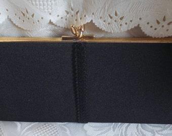 Black vintage evening clutch bag