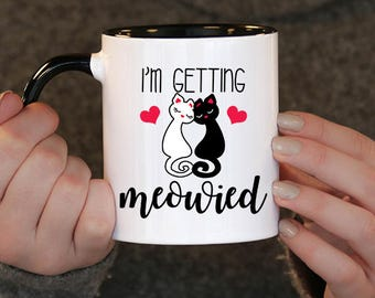 I'm getting meowed, cute cat mugs, animal lover gifts