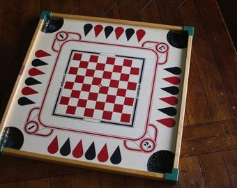 Vintage, Double-Sided, Carrom Board in Excellent Condition