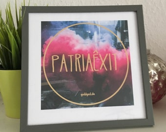 PatriaExit picture frames / digital printing, print art / wall decoration