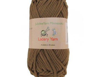 Lacery Yarn 100g - 2 Skeins - 100% Cotton - Chestnut Brown- Color 210