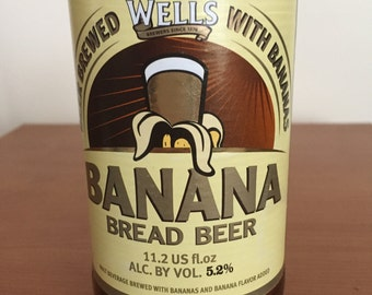 Wells Banana Bread Beer Bottle Soy Candle