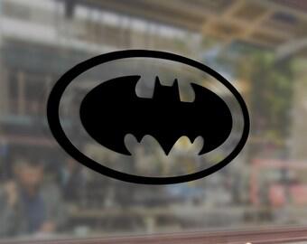Bat Logo Art Vinyl Stickers Funny Decals Bumper Car Auto Computer Laptop Wall Window Glass Skateboard Snowboard Helmet