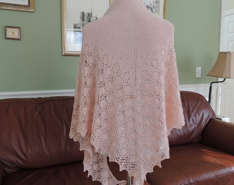 Hand Knit Silk Lace Shawl
