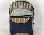 Nepal Himalayan hand crafted Hemp backpack laptop bag summer rucksack eco friendly