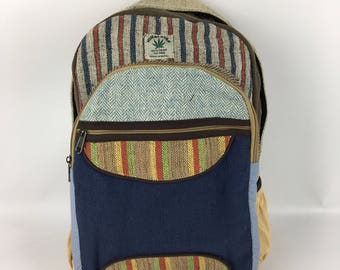 Nepal Himalayan hand crafted Hemp backpack laptop bag summer rucksack eco friendly