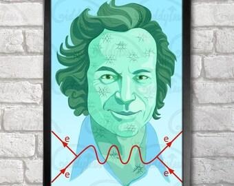 Richard Feynman Poster Print A3+ 13 x 19 in - 33 x 48 cm  Buy 2 get 1 FREE