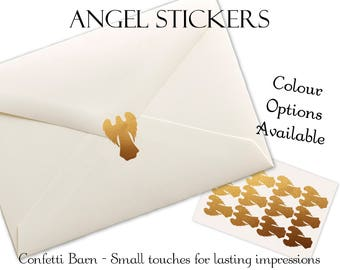 Angel Stickers - Baptism - Removable Vinyl - Guardian Angel - Envelope Sealing Stickers #51