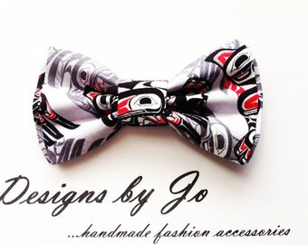Mens Bow Tie, Indigenous Inspired Print, Grey,Formal Bow Tie,Suit Bowtie, Wedding Bow Tie,Mens Fashion Accessories, Bow Tie,Mens Bowtie M654