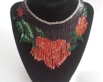 Rose Fringe Necklace