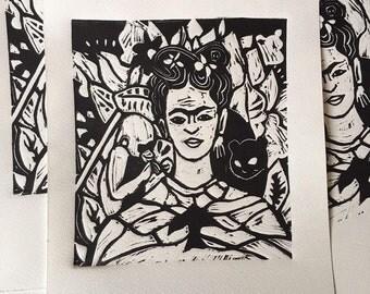 linoprint ilustracion