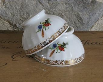 Small Limoges cafe au lait bowls