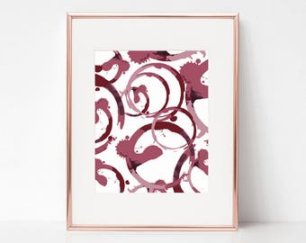 Wine Stain, 8x10 Digital Download Prints, Wall Art, Home Office, Kate Spade, Arbor Grace Collections