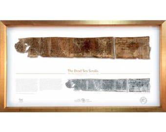 10 Commandments - Framed Dead Sea Scrolls Fragment