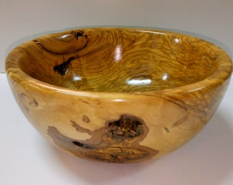 Handmade wooden Bowl made from Olive tree wood