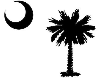 Vinyl decal SC Palmetto Tree