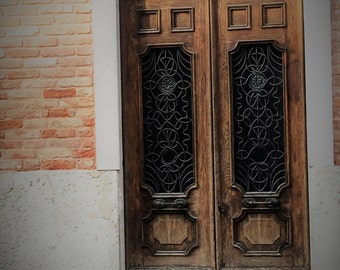 Rustic Venetian Door Print, Venice Italy Photo, Travel Photography