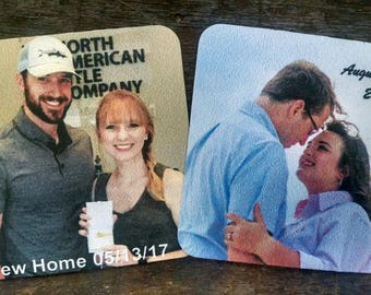 Inexpensive Wedding reception or Graduation Party Coasters