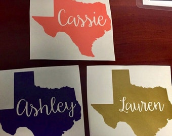 Home State decal / yeti state decal / monogram decal / name decal / home state / state sticker / state decal / vinyl decal / car decal
