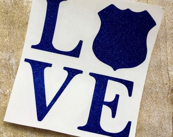 police decal / police love decal / police wife decal / police sticker / vinyl decal / yeti decal / police car decal / back the blue
