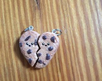 Chocolate chip cookie BFF charm