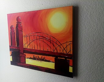 Wall Art 16th Street Bridge Acrylic on Canvas