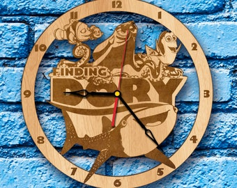 Finding Dory Birthday Gift Clock finding dory decor finding dory wall art finding dory hank finding dory thank you finding dory poster