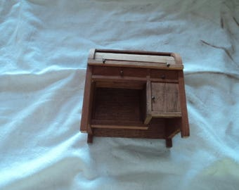 Mini Roll Top Desk - Wooden