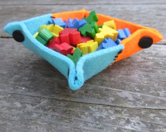 Felt Tray Set - Hand Stitched Bright & Fun Colors
