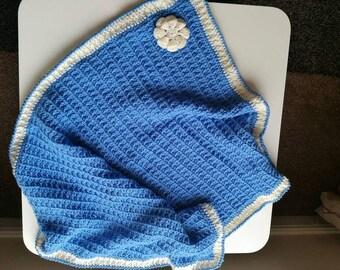 Crochet baby pram blanket