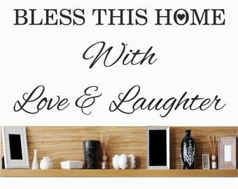 Bless this home / Wall Art Decal Stickers Quality NEW