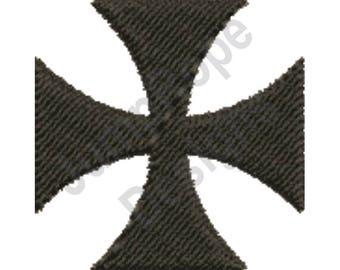 Black Maltese Cross - Machine Embroidery Design