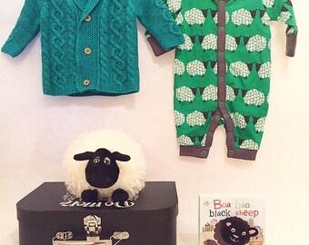 Baa Baa Black Sheep Baby Boy Gift Suitcase Hamper