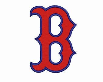 Boston Red Sox embroidery 8 Size Design Instant Download 8 Formats machine embroidery pattern Download machine embroidery