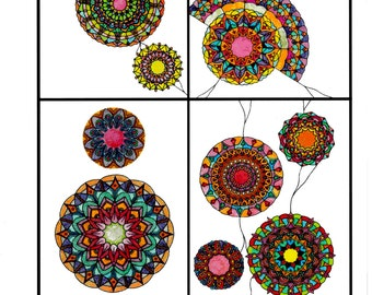 Mandala-adult coloring book-Stress-relaxation