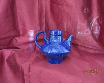 Blue ice modern teapot