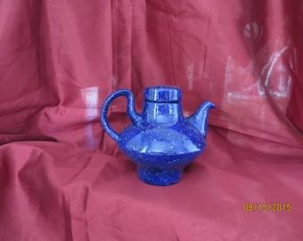 Blue ice modern teapot