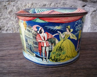 "Vintage tin  ""Coo Blanc"" candy box"
