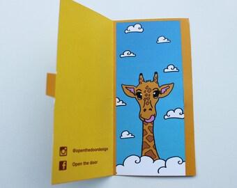 Bookmark Giraffe in the clouds