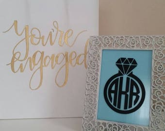 Ring Monogram, Circle Ring Monogram, Swirl Ring Monogram