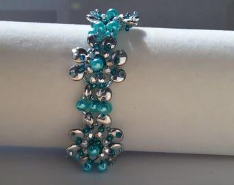 Pearls on Posies bracelet designed by Marcia Balonis