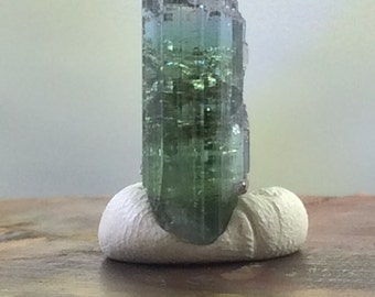 Brilliant Blue Green Tourmaline 20mm x 9mm x 8mm