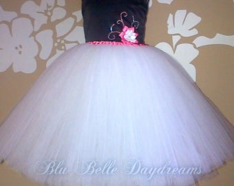 Handmade Party Dress, Rockabilly Tutu, 50s Style Dress, Flower Girl Dress, Party Tutu Dress, Retro Tutu Dress, 50s Knee Length Tutu