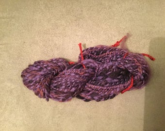 Hand spun small skein of BFL yarn