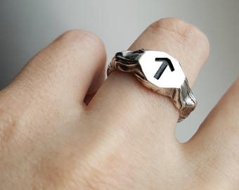 Viking Rune Arrow Sterling silver Ring