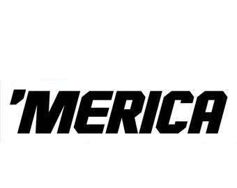 America - 'MERICA Vinyl Decal