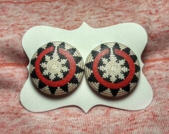 Large Navajo Basket Earrings
