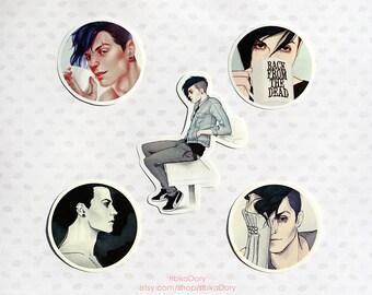 Kai sticker set of 5