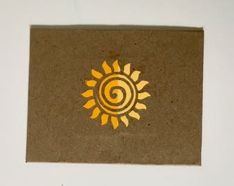 Blank Notecards Greeting Cards Handmade Note Cards With Envelopes Notecard Set Greeting Card Set Greeting Cards Blank repurposed paper Sun