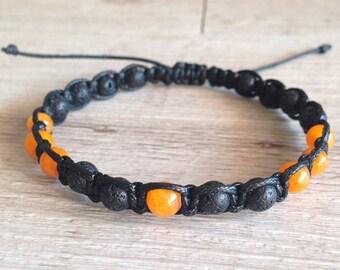 Orange Shamballa bracelet